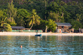 Old fishing boat on Tropical beach at Seychelles - PhotoDune Item for Sale