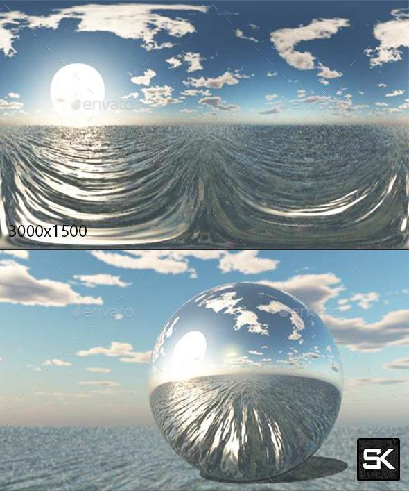 3DOcean Sunrise On The Sea 10408536