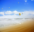Air balloons over the sea - PhotoDune Item for Sale