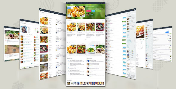 ThemeForest Gustos Community-Driven Recipes WordPress Theme 10408604