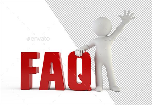 GraphicRiver 3D Small People FAQ 10408665