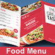 Trifold Food Menu - GraphicRiver Item for Sale