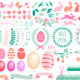 Happy Easter Set - GraphicRiver Item for Sale