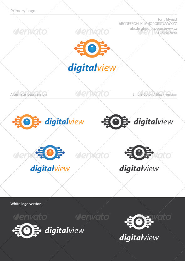 Digital View - Symbols Logo Templates