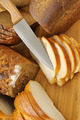 cut bread and knife - PhotoDune Item for Sale