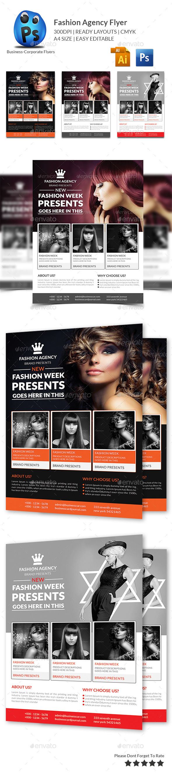 GraphicRiver Fashion Agency Flyer 10176486