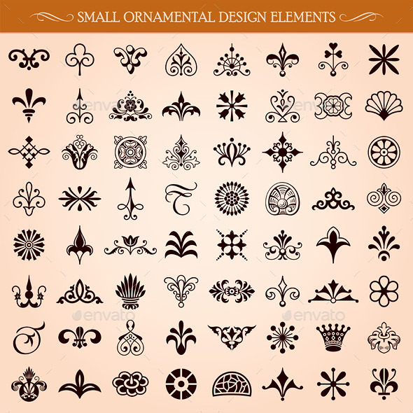 GraphicRiver Small Ornamental Design Elements 10409842