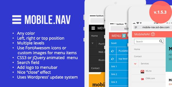 MOBILE.NAV - Responsive menu plugin - CodeCanyon Item for Sale