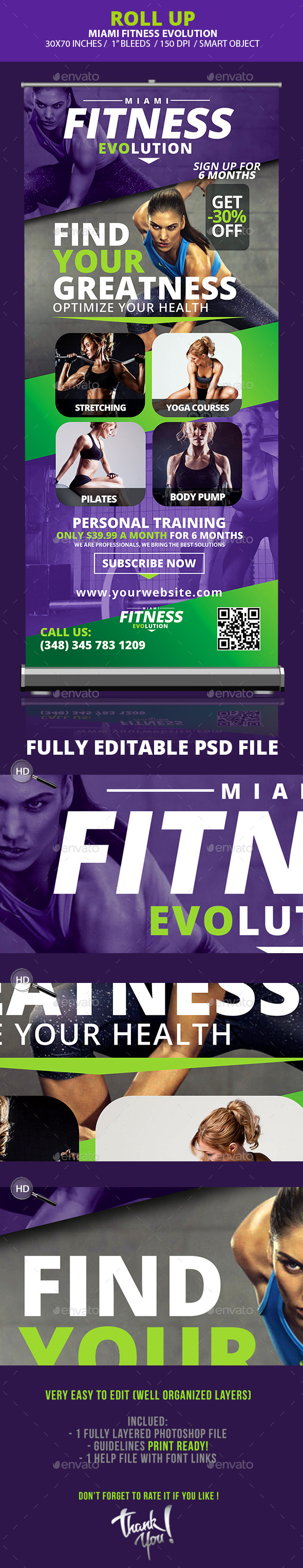 GraphicRiver Fitness Evolution Roll-up Banners 10359541