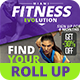 Fitness Evolution Roll-up Banners  - GraphicRiver Item for Sale