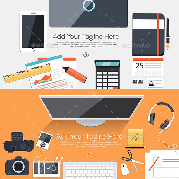 GraphicRiver Flat Designed Banners 10410280