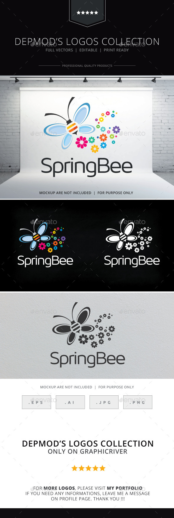 GraphicRiver Spring Bee Logo 10410443