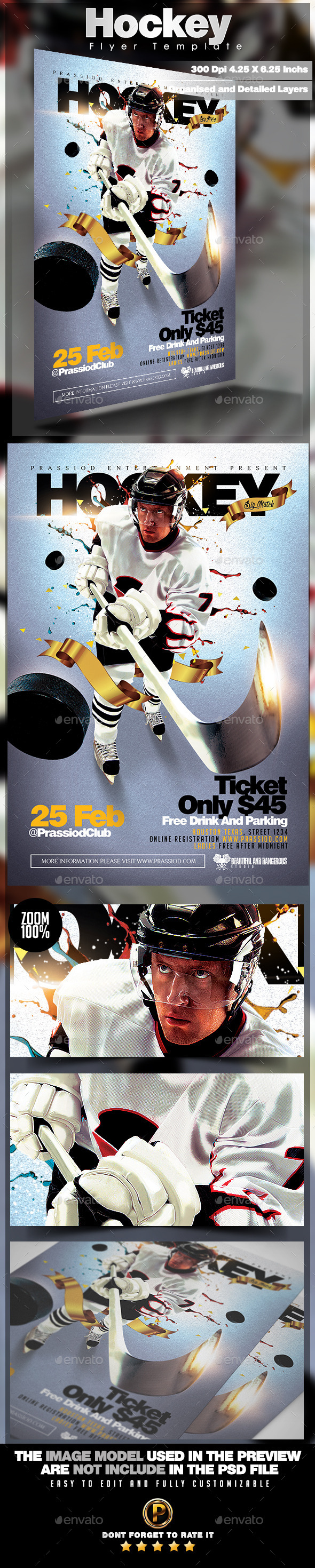 GraphicRiver Hockey Flyer Template 10410508