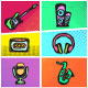 Pop Art Music Icons - GraphicRiver Item for Sale