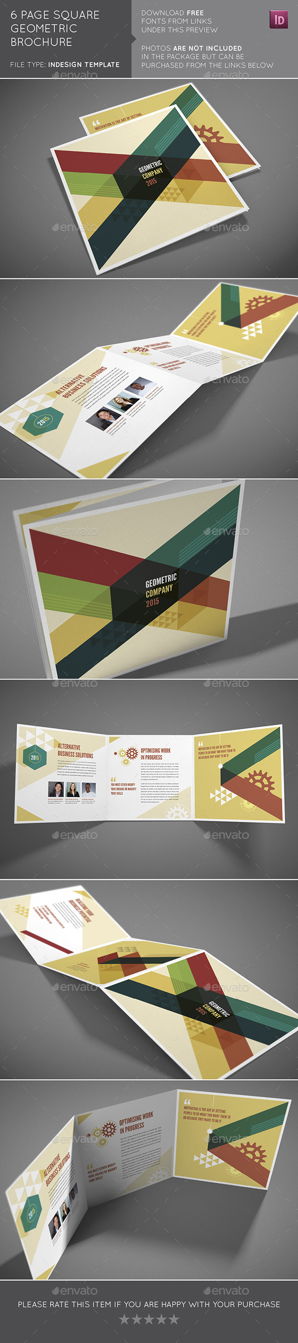 GraphicRiver 6 Page Square Geometric Brochure 10410545