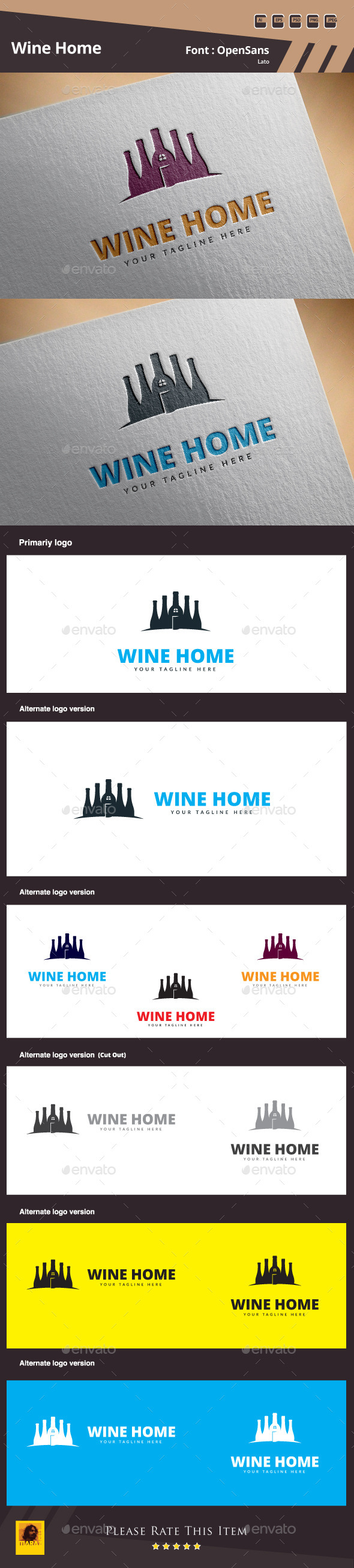 GraphicRiver Wine Home Logo Template 10410720