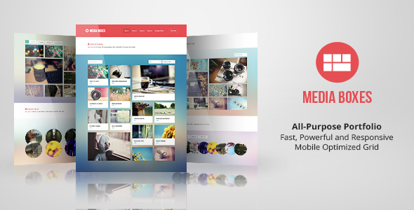 Media Boxes Portfolio - Responsive Grid - CodeCanyon Item for Sale