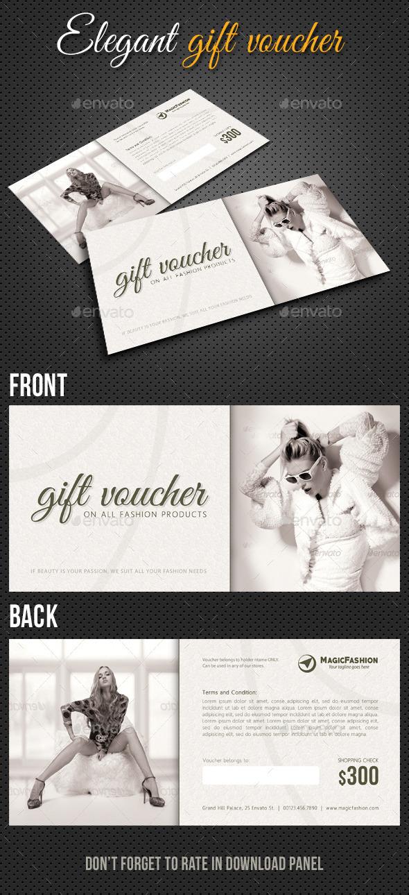 GraphicRiver Elegant Gift Voucher V01 10410966