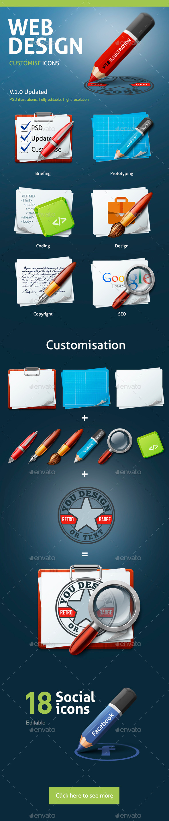 GraphicRiver WEB Design customise icons 10411017