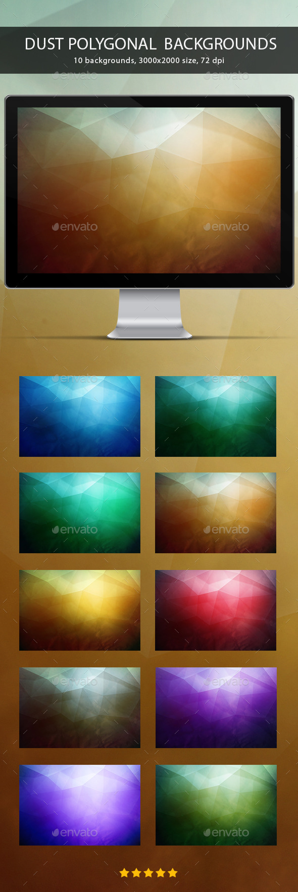 GraphicRiver Dust Polygonal Backgrounds 10411042