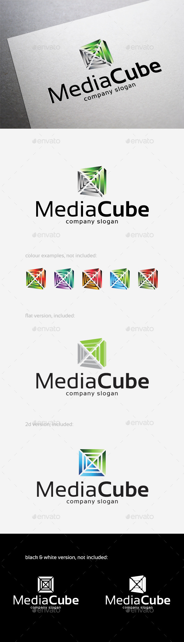 GraphicRiver Media Cube Logo 10411159
