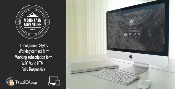 ThemeForest Mountain Responsive Coming Soon 10355505