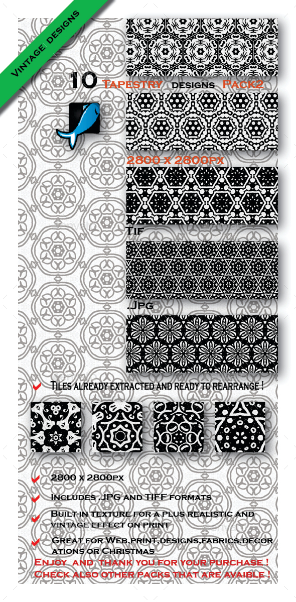 GraphicRiver 10 Medieval Inspiration Patterns Pack2 10411393