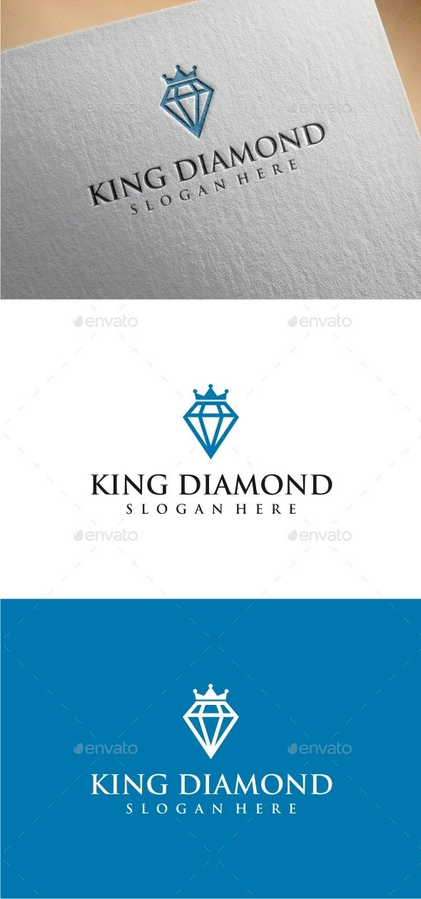GraphicRiver King Diamond Logo Template 10411455