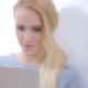 Blurred Woman Using Her Laptop Computer 2 - VideoHive Item for Sale