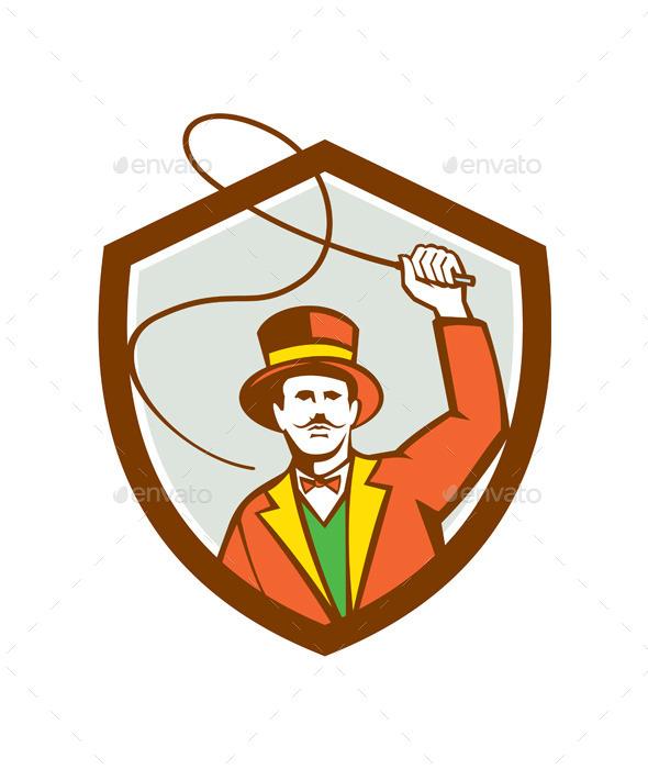 Circus Ring Master Bullwhip Shield