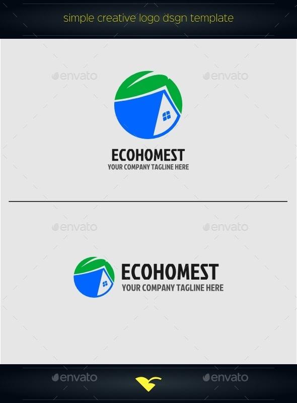 GraphicRiver Eco home logo 10411739