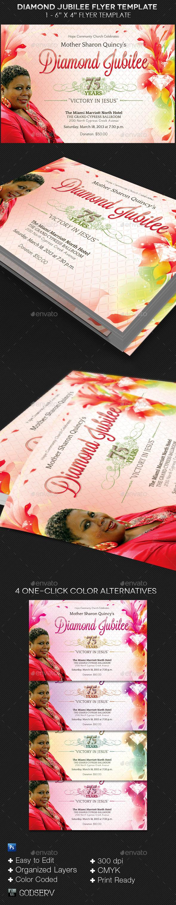 GraphicRiver Diamond Jubilee Flyer Template 10411913