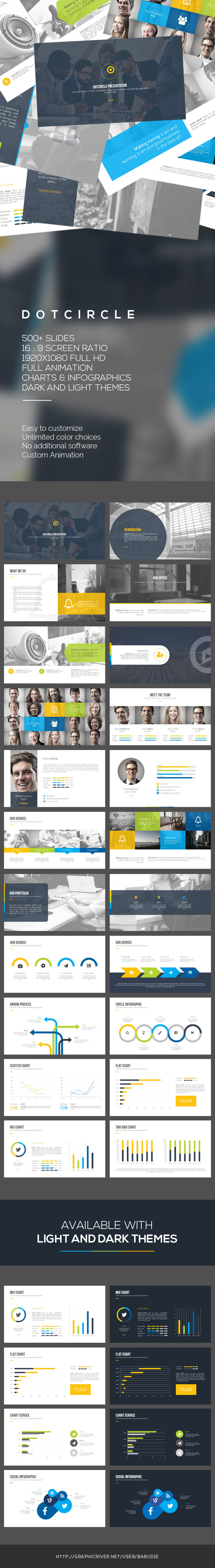 Dotcircle PowerPoint Template (PowerPoint Templates)