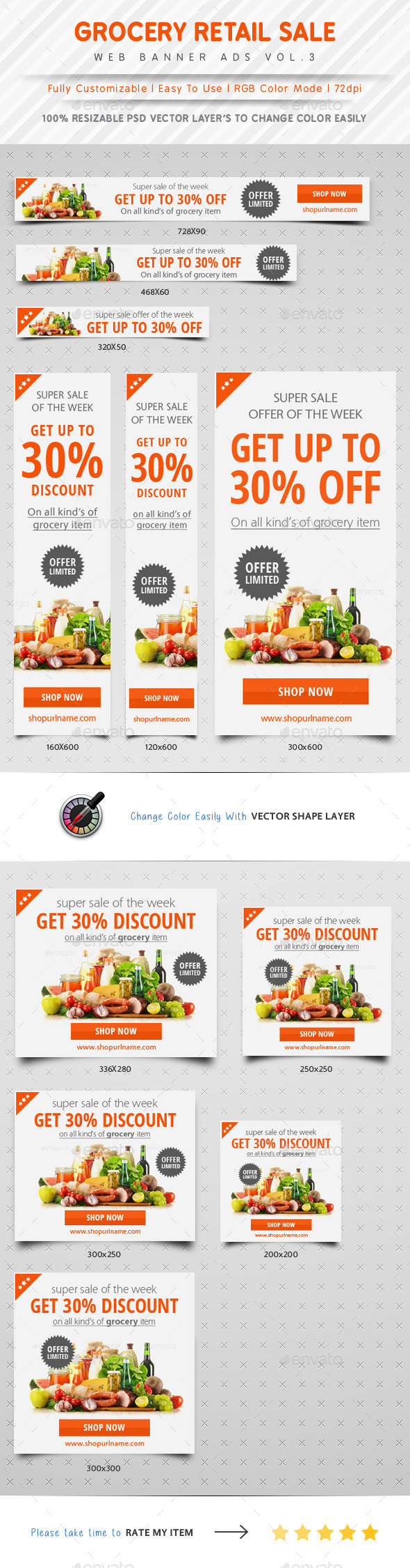 GraphicRiver Grocery Retail Sale Web Banner Ads 10412398