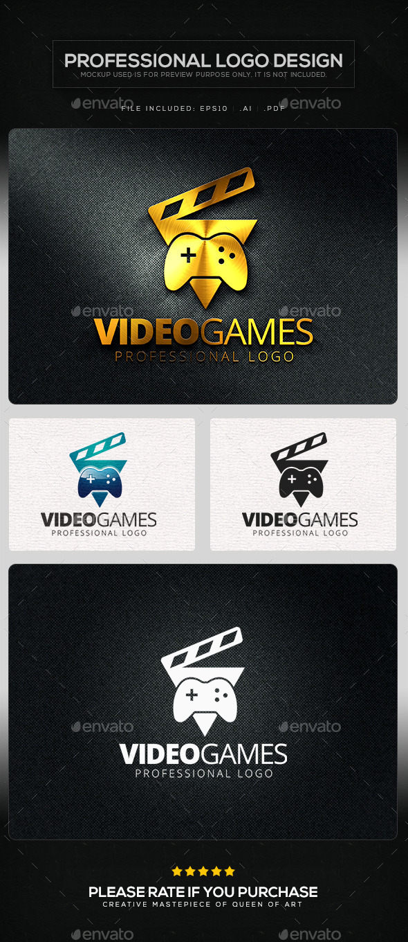 GraphicRiver Video Games Logo Template 10412760
