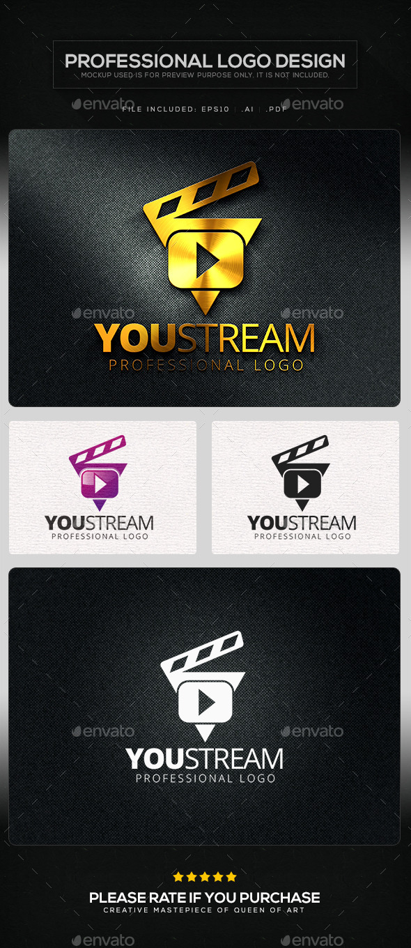 GraphicRiver You Stream V.2 Logo Template 10412817