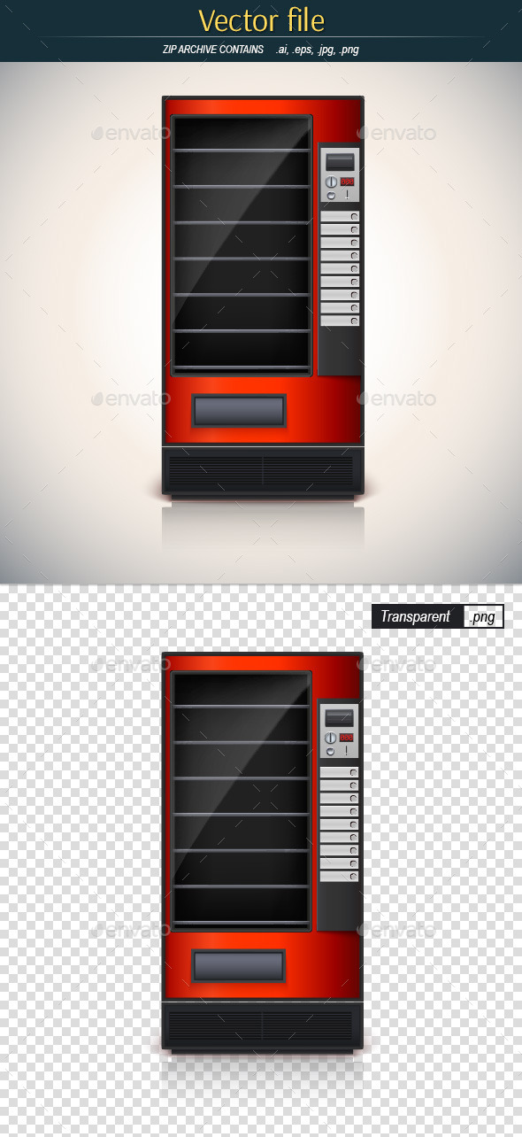 GraphicRiver Red Vending Machine 10413055