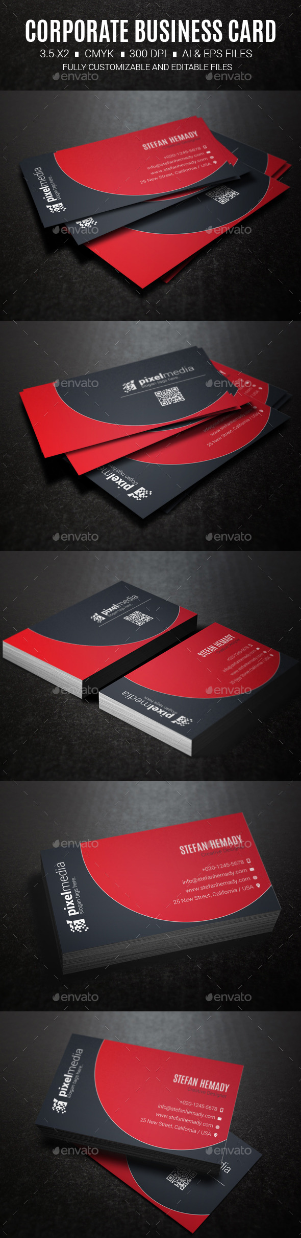 GraphicRiver Corporate Business Card 10413212