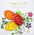 crafts with their hands of quilling on a holiday theme Happy Eas - PhotoDune Item for Sale