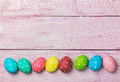 Easter eggs on wooden background - PhotoDune Item for Sale