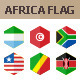 50 Africa Flag Icons. Hexagon Flat Design - GraphicRiver Item for Sale