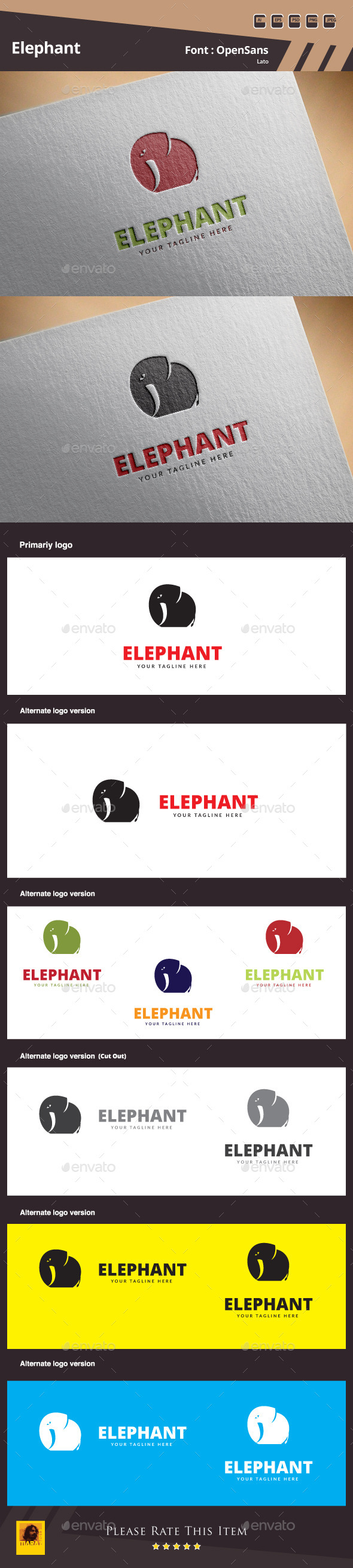 GraphicRiver Elephant Logo Template 10413658