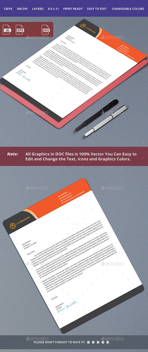 GraphicRiver Letterhead Design 10413659