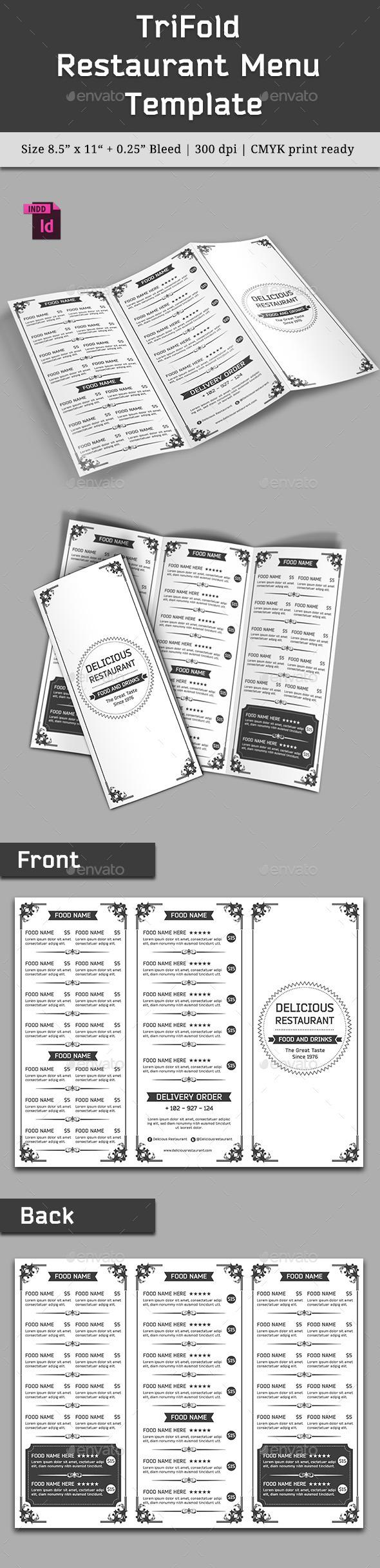 GraphicRiver TriFold Restaurant Menu Template Vol 7 10413688