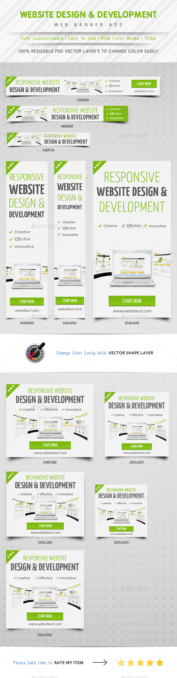 Website Design & Development Banner Ads