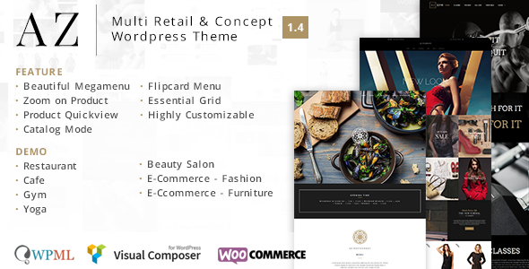 AZ - Multi Retail & Concept WordPress Theme - WooCommerce eCommerce