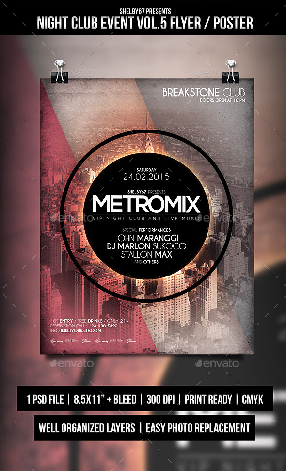 GraphicRiver Night Club Event Flyer Poster Vol.5 10413785
