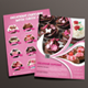 Delicious Cupcake Menu Flyer + Loyalty Card - GraphicRiver Item for Sale