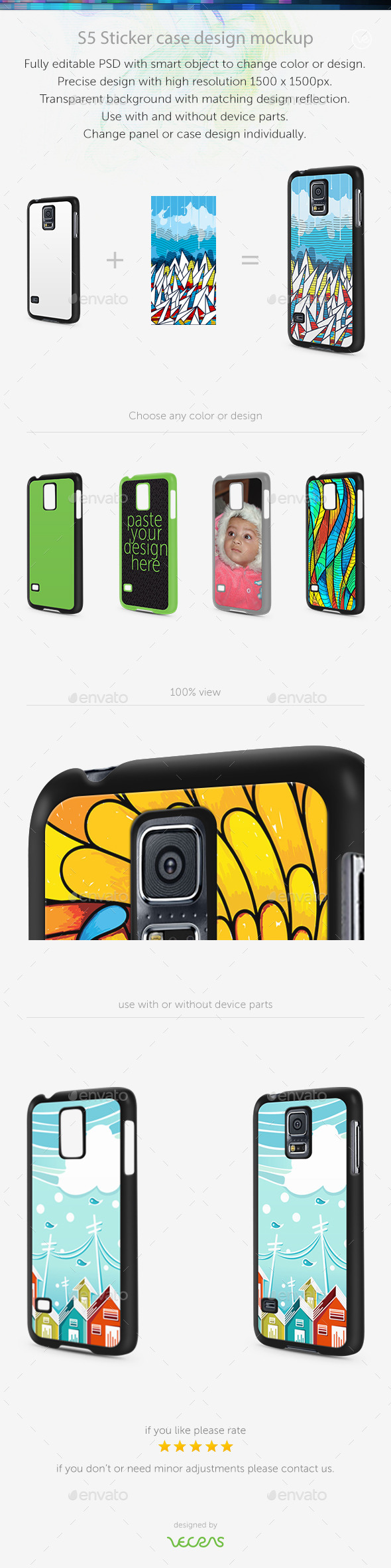 GraphicRiver S5 Sticker Case Design Mockup 10413896