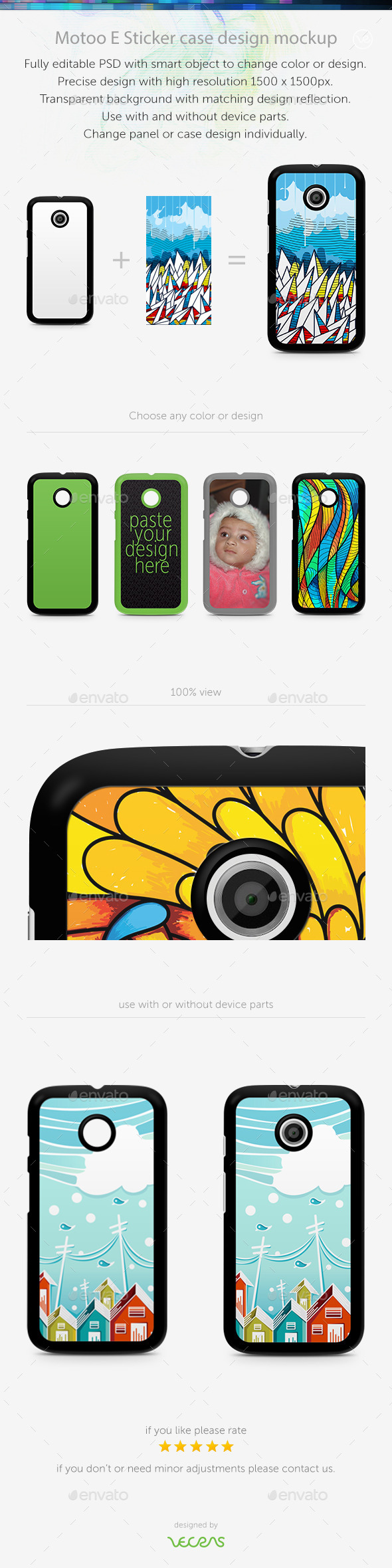 GraphicRiver Motoo E Sticker Case Design Mockup 10413991